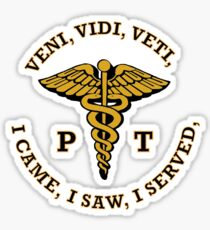 Physical Therapist Caduceus VVV Shield Sticker