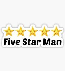 5 star man Sticker