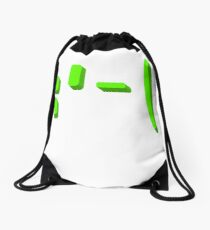 Sad face emoticon kaomoji Drawstring Bag