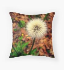 Common Dandelion Throw Pillow