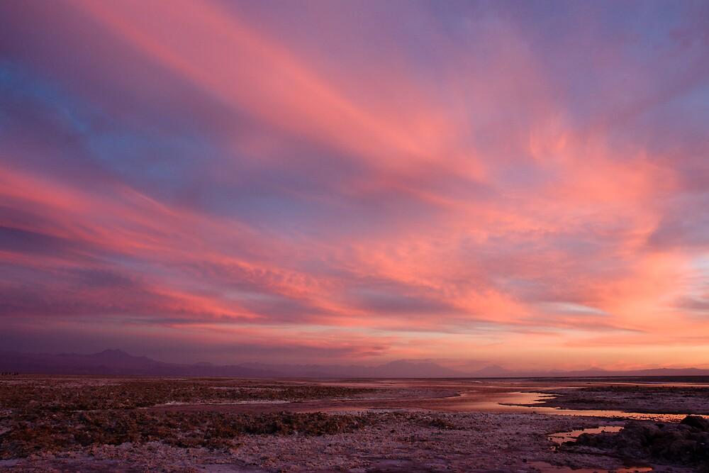 sunset over laguna Chaxas by Ivan Ilarionov