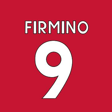 Roberto Firmino Liverpool FC shirt illustration by DanDobsonDesign