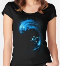 Space Surfing Women's Fitted Scoop T-Shirt
