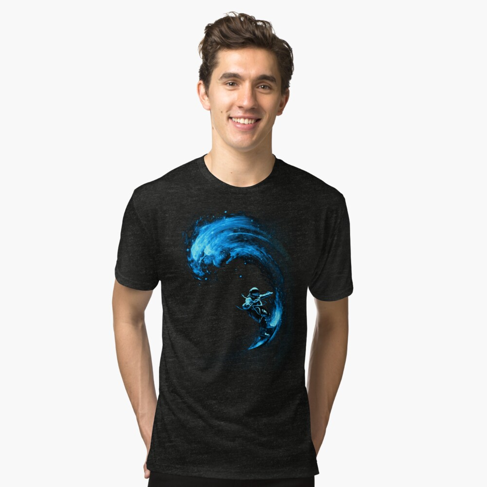Space Surfing Tri-blend T-Shirt