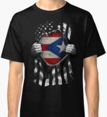 Puerto Rican American Flag USA Puerto Rico Classic T-Shirt