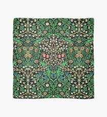 William Morris Jacobean Floral, Black Background Scarf