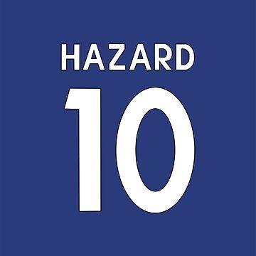 Eden Hazard Chelsea FC shirt Illustration  by DanDobsonDesign