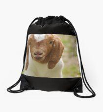 Boer goat buckling kid Drawstring Bag