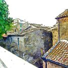 Glimpse buildings of the village  by Giuseppe Cocco