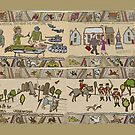 Panels 1 to 4 of the Gabeaux Tapestry, the Outlander story by jennyjeffries