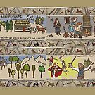 Panels 5 to 8 of the Gabeaux Tapestry, the Outlander story by jennyjeffries