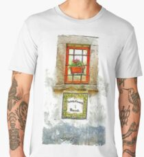 Window with flower pot Men's Premium T-Shirt