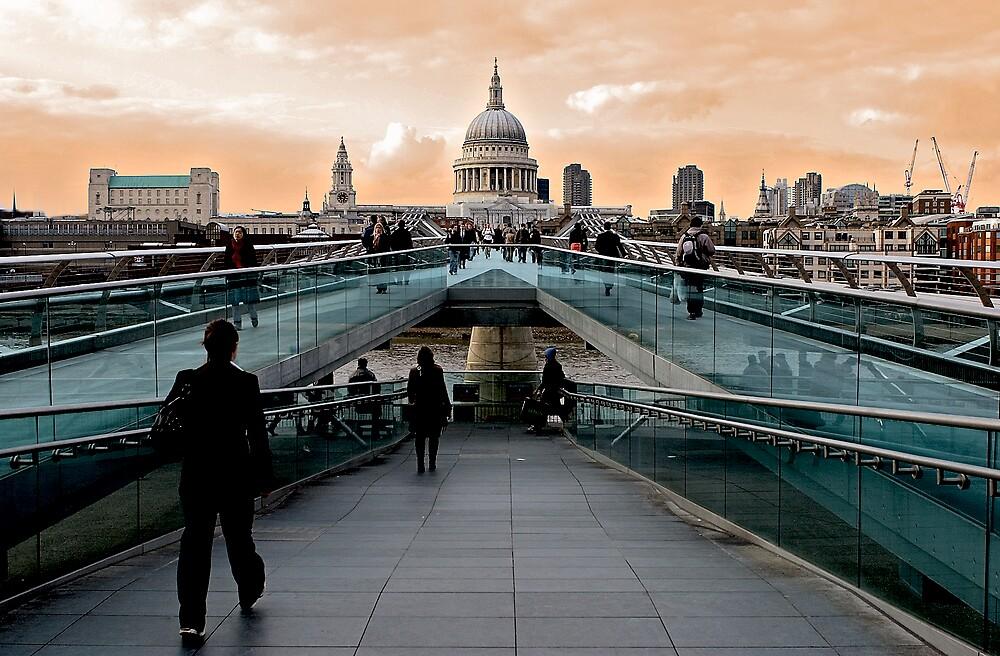 St Paul's from Millenium Bridge by nrgpix