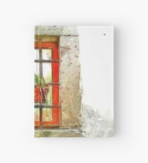 Window with flower pot Hardcover Journal