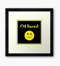 I'm Bored Emoji Framed Print