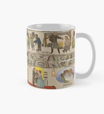 Panels 13 to 16 of the Gabeaux Tapestry, the Outlander story Mug