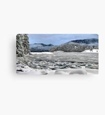 Kanish Bay in winter Canvas Print