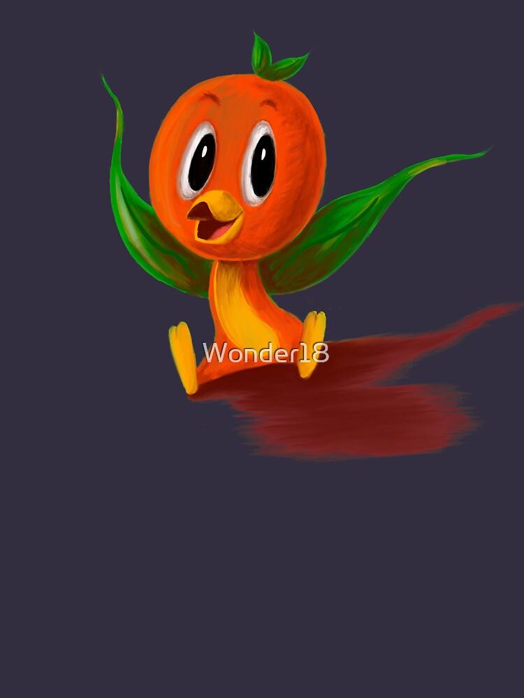 orangener Vogel von Wonder18