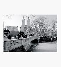 Bow Bridge, Central Park, New York City Photographic Print