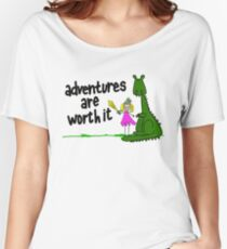Dragon and Knight: Adventures Are Worth It Women's Relaxed Fit T-Shirt