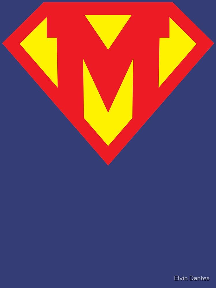 Letter M Superhero Symbol Unisex T Shirt By Elvindantes Redbubble
