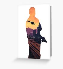 Franklin Double Exposure  Greeting Card