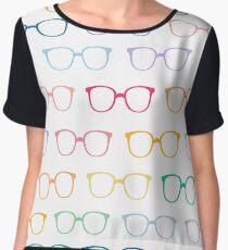 Rainbow glasses Chiffon Top