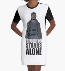 The Cheese Stands Alone Graphic T-Shirt Dress