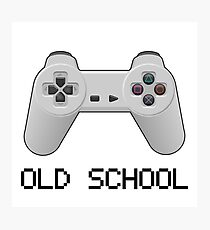 Old school - PlayStation (one!) Controller Photographic Print