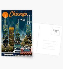 """""""CHICAGO"""" Vintage Reise Werbung Print Postkarten"""
