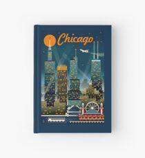 """""""CHICAGO"""" Vintage Reise Werbung Print Notizbuch"""