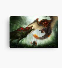 Deviljho vs. Bazelgeuse Canvas Print