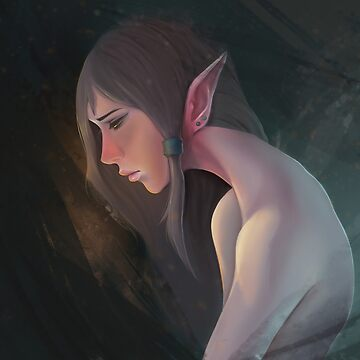 Elf in Thought by GuildCave