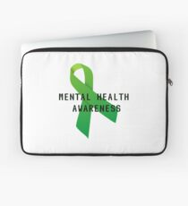 Mental Health Awareness Ribbon w/ light outer glow Laptop Sleeve