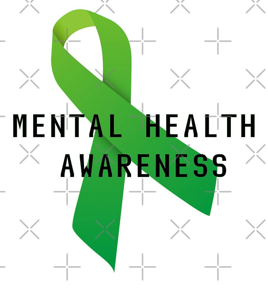 Mental Health Awareness Ribbon W Light Outer Glow By Ngwoosh