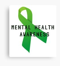Mental Health Awareness Ribbon w/ light outer glow Canvas Print
