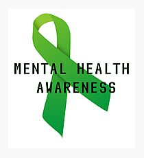 Mental Health Awareness Ribbon w/ light outer glow Photographic Print