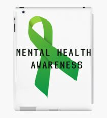 Mental Health Awareness Ribbon w/ light outer glow iPad Case/Skin