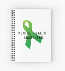 Mental Health Awareness Ribbon w/ light outer glow Spiral Notebook