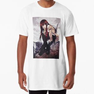 Strong-Willed Steins Gate Makise Kurisu El Psy Congroo Printed Tee Shirt Short Sleeve T-shirt Costumes & Accessories