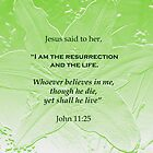 Resurrection and Life John 11:25 by hummingbirds