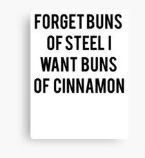 Buns Of Cinnamon Canvas Print