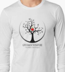 Give Back to Nature Logo - For Light Backgrounds Long Sleeve T-Shirt