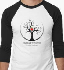 Give Back to Nature Logo - For Light Backgrounds Men's Baseball ¾ T-Shirt