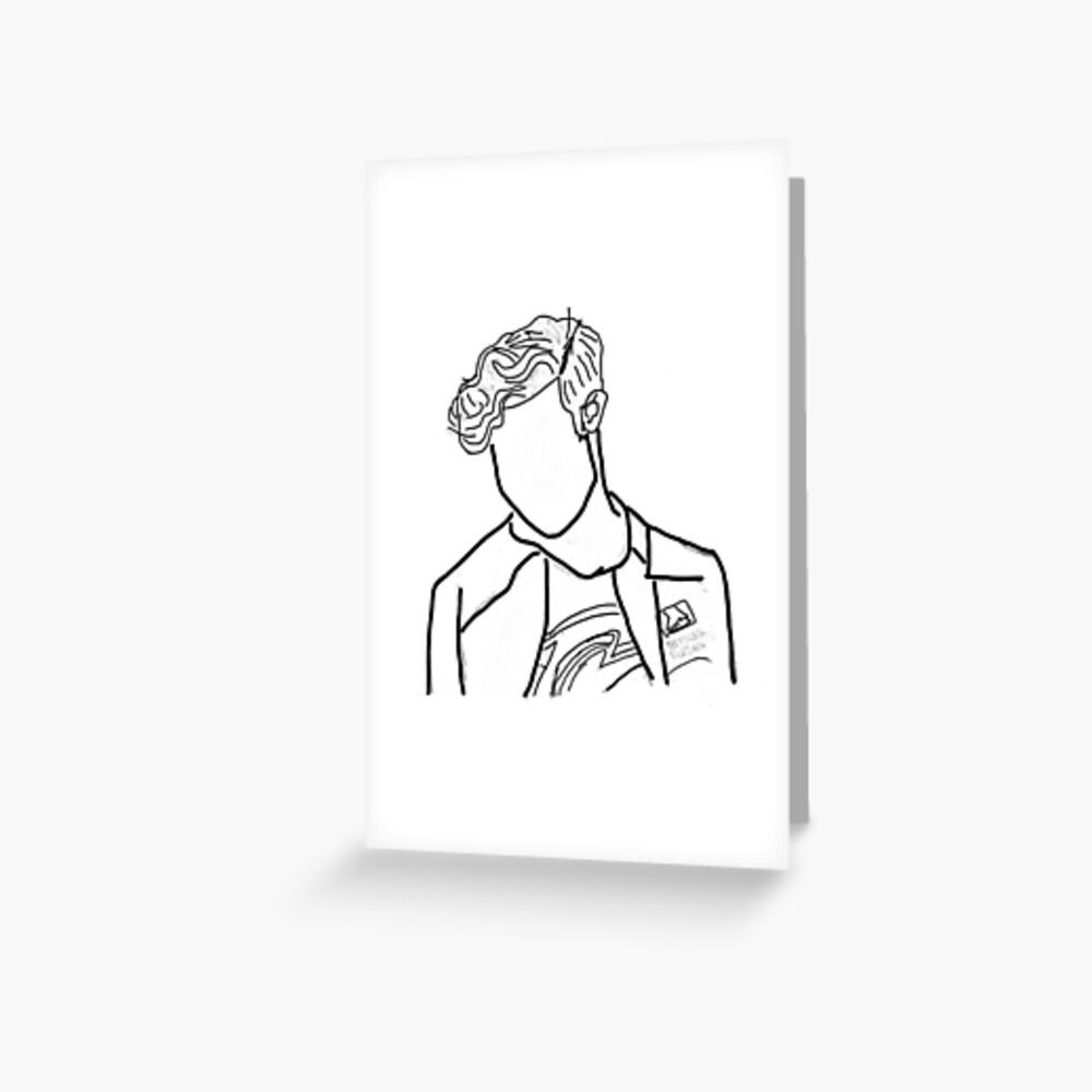 Nathan Chen Ausgeschnitten Grußkarte