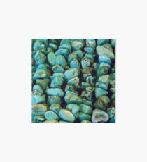 TURQUOISE NUGGETS Art Board
