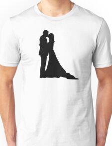 Kissing wedding couple Unisex T-Shirt