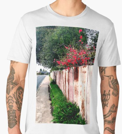 japonica and the rusty fence Men's Premium T-Shirt