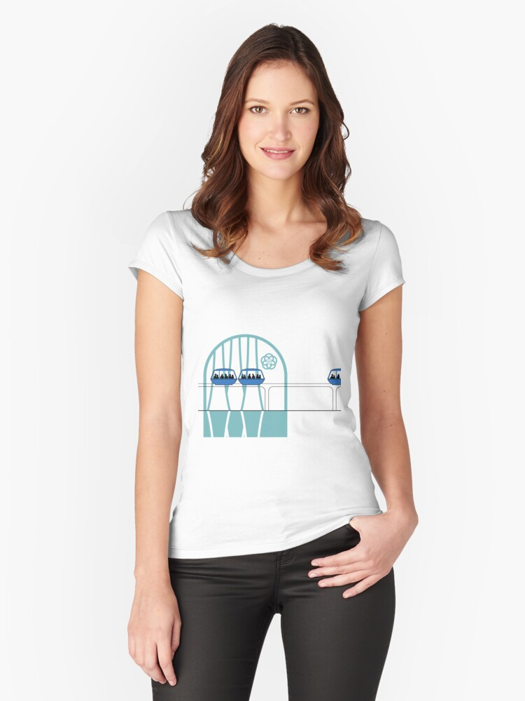 Lake Buena Vista Peoplemover Women's Fitted Scoop T-Shirt Front