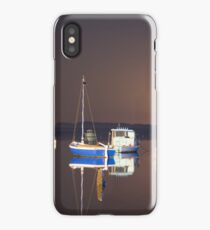Boats resting in the bay iPhone Case